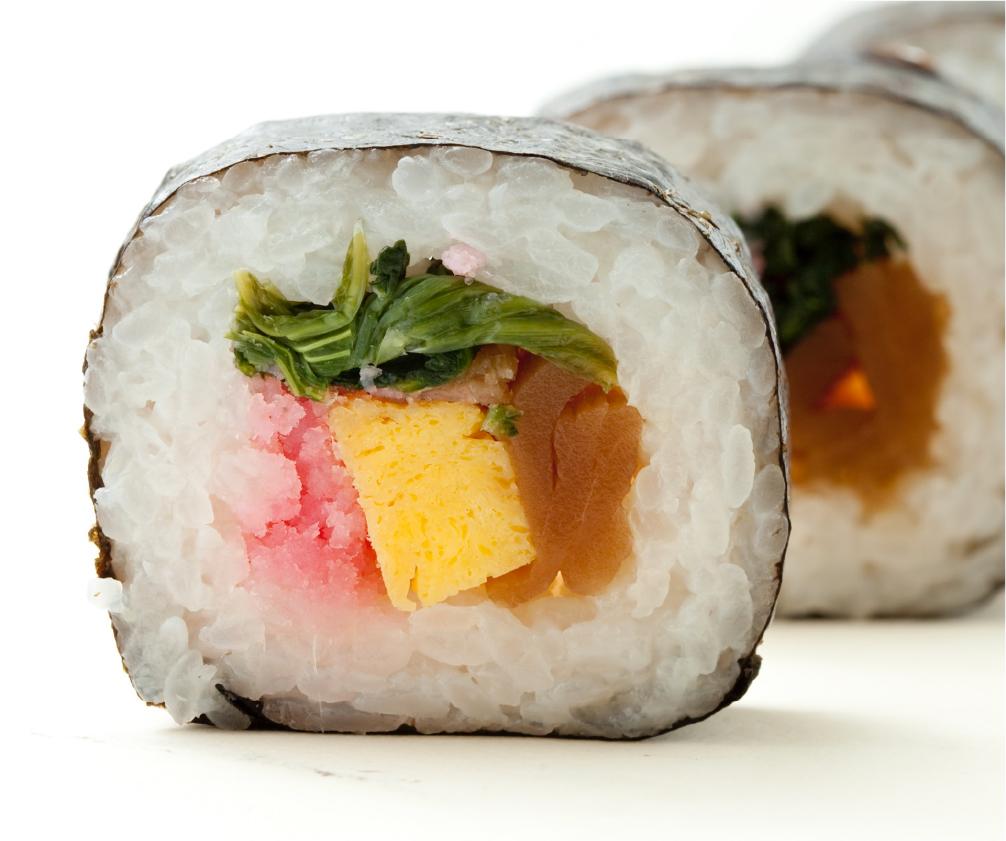 巻き寿司を便利な冷凍に